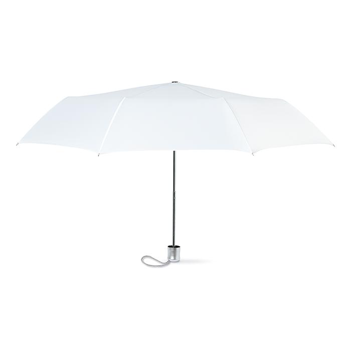 Dámský bílý mini deštník v pouzdře