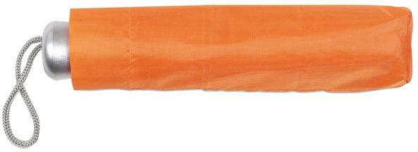 Dámský oranžový mini deštník v pouzdře s potiskem