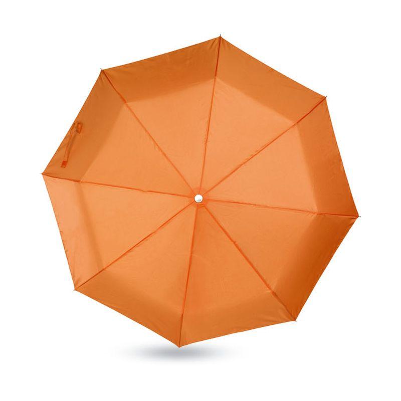 Dámský oranžový mini deštník v pouzdře