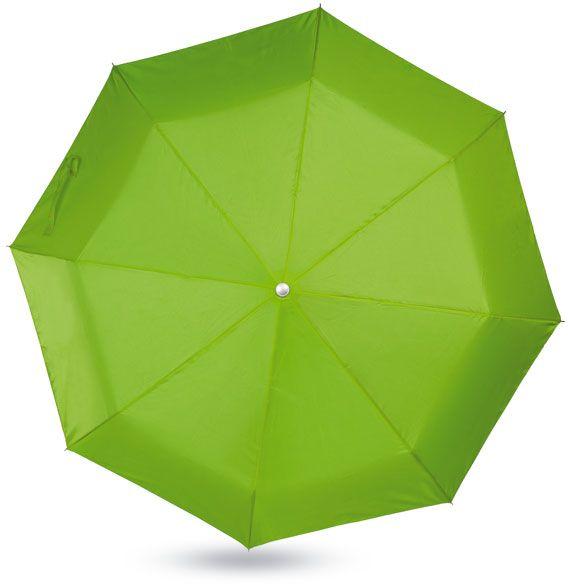 Dámský limetkový mini deštník v pouzdře