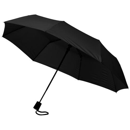 21 3sekční automatický deštník černý