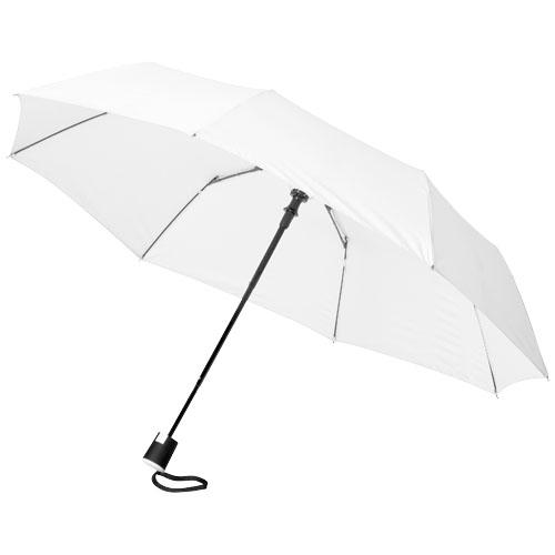21 3sekční automatický deštník bílý