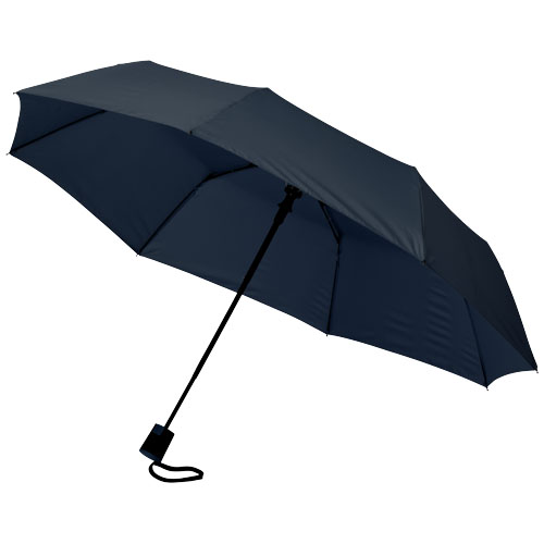 21 3sekční automatický deštník světle modrý