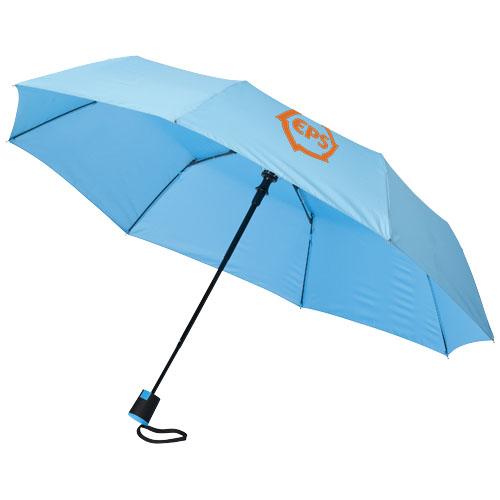 21 3sekční automatický deštník modrý
