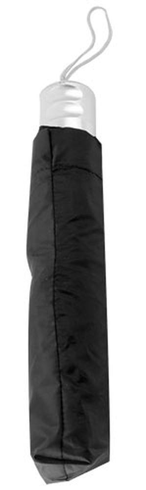 Chromovaný deštník černý
