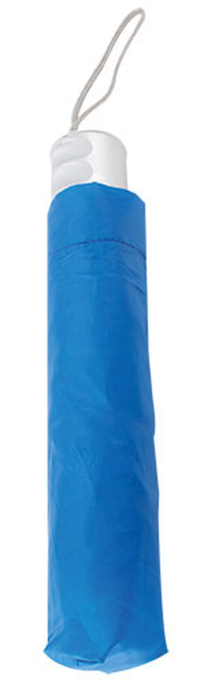 Chromovaný deštník modrý