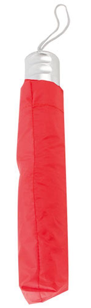 Chromovaný deštník červený