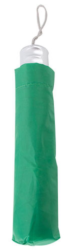 Chromovaný deštník zelený