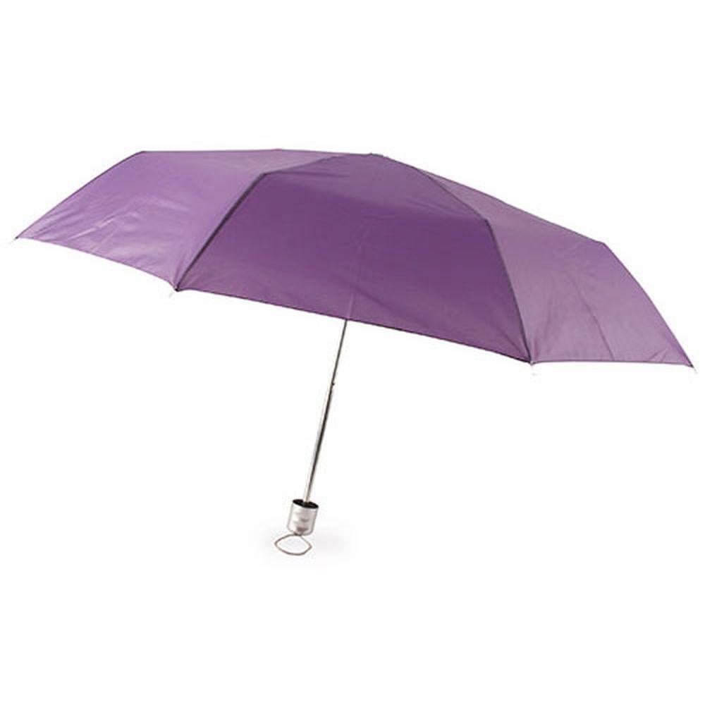 Chromovaný deštník fialový