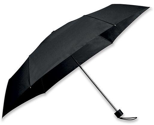 SEAGULL polyesterový skládací manuální deštník, 6 panelů, černá