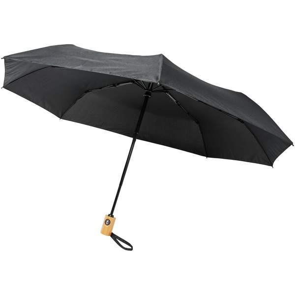 Skládací deštník z recyklovaného PET s automatickým otevíráním/zavíráním Bo 21palců