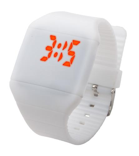 Nivert bílé LED hodinky