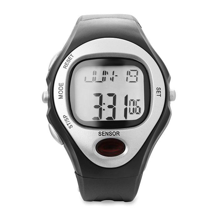 Černé digitální sportovní hodinky
