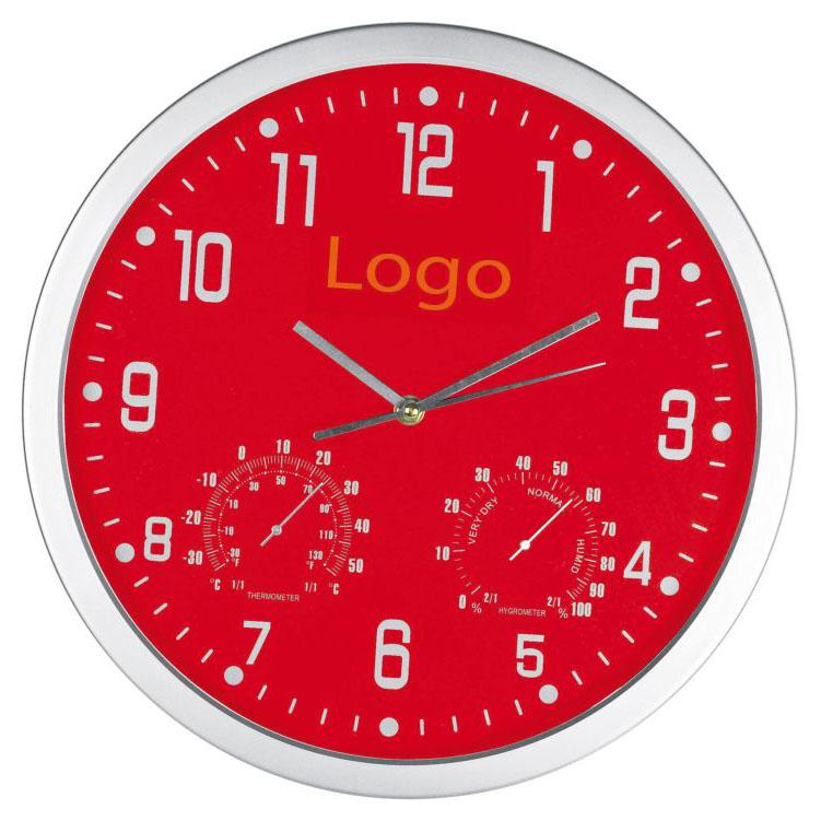 Červené nástěnné hodiny