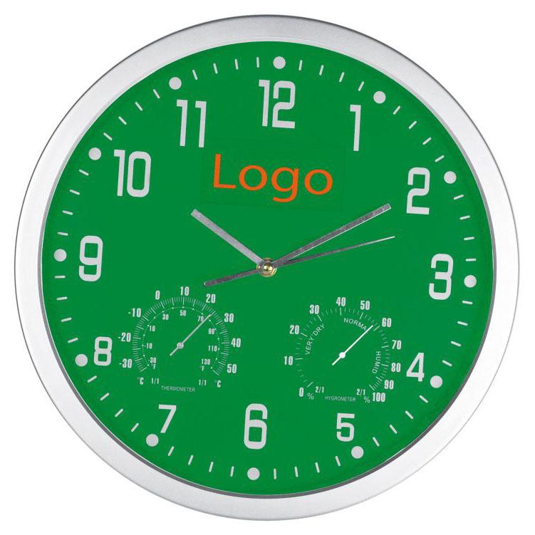Zelené nástěnné hodiny