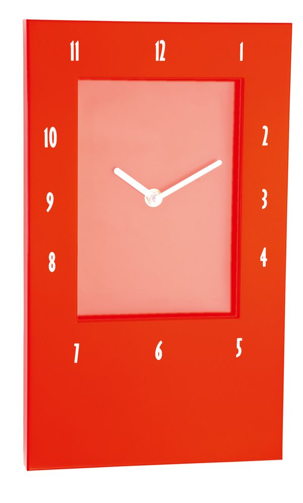 Viak červené nástěnné hodiny