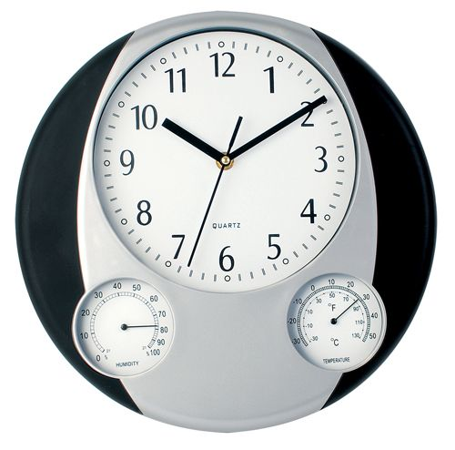 Černé nástěnné hodiny do každé kanceláře