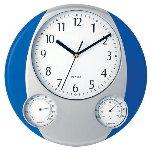 Modré nástěnné hodiny