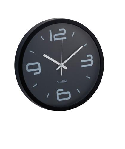 Cronos černé nástěnné hodiny