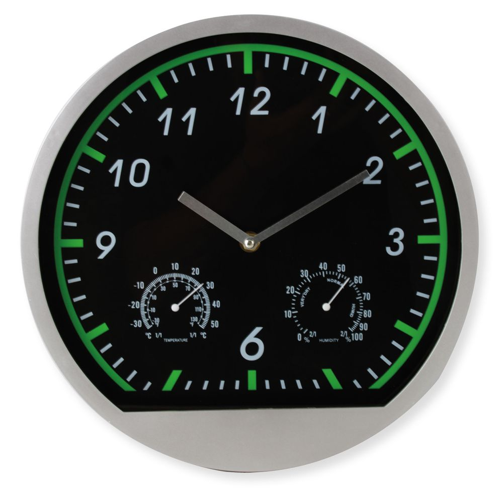 Hodiny stříbrné se zeleným číselníkem
