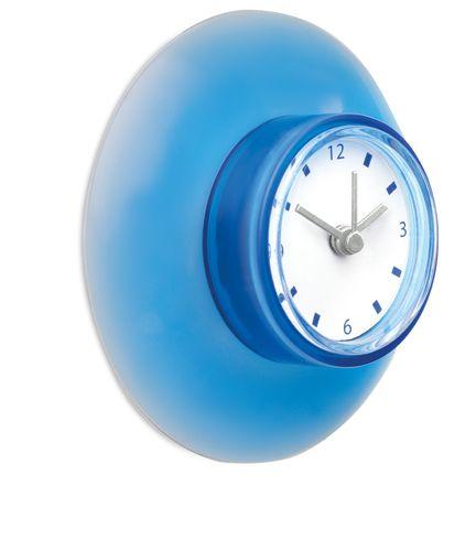 Plastové modré nástěnné hodiny