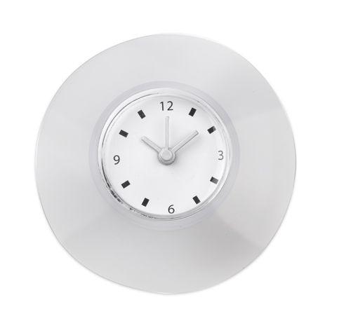 Plastové bílé nástěnné hodiny