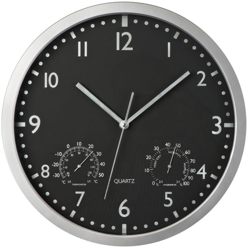 Nástěnné hodiny, černý displej