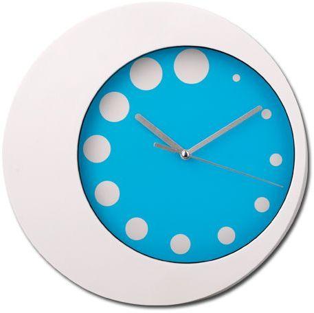 JENNY plastové nástěnné hodiny, světle modrá