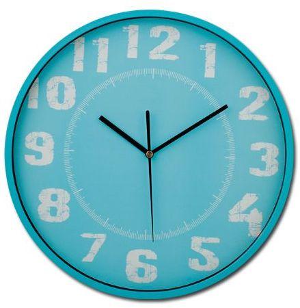 DESHI plastové nástěnné hodiny, modrá