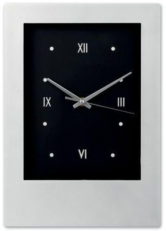 ROMANO plastové nástěnné hodiny, stříbrná