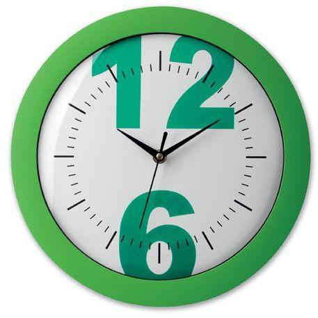 LARISA plastové nástěnné hodiny, zelená