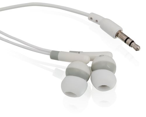 Bílá Cort sluchátka