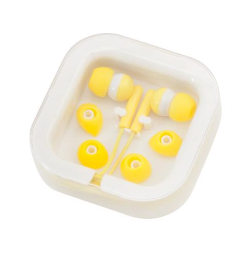 Žlutá Cort sluchátka