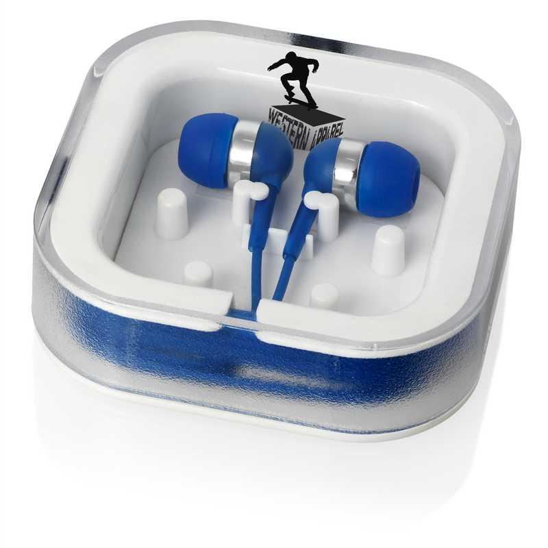 Modrá sluchátka