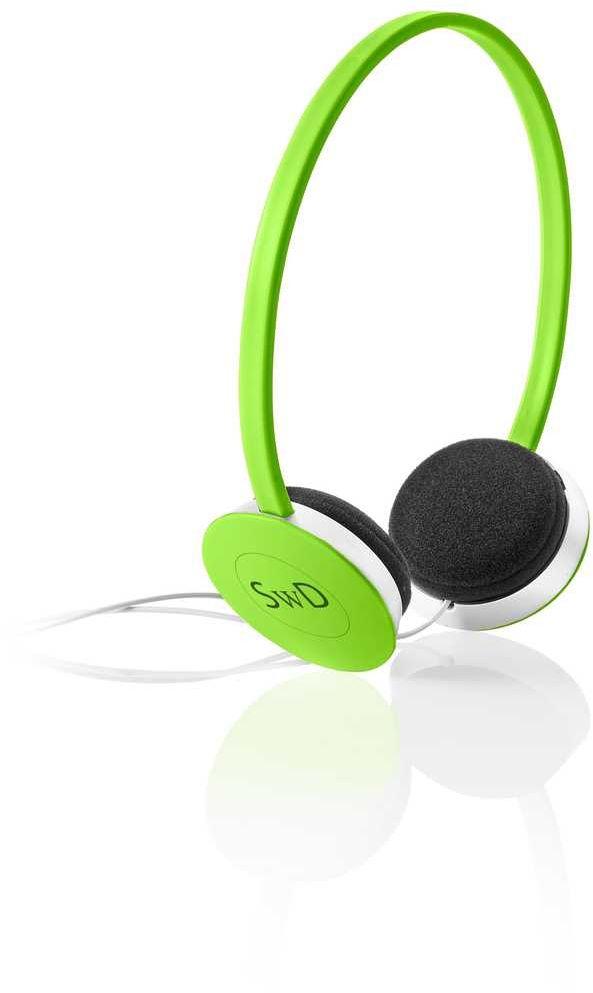 AW-2 zelená sluchátka přes uši