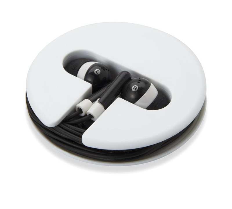Černá sluchátka silikonové pouzdro