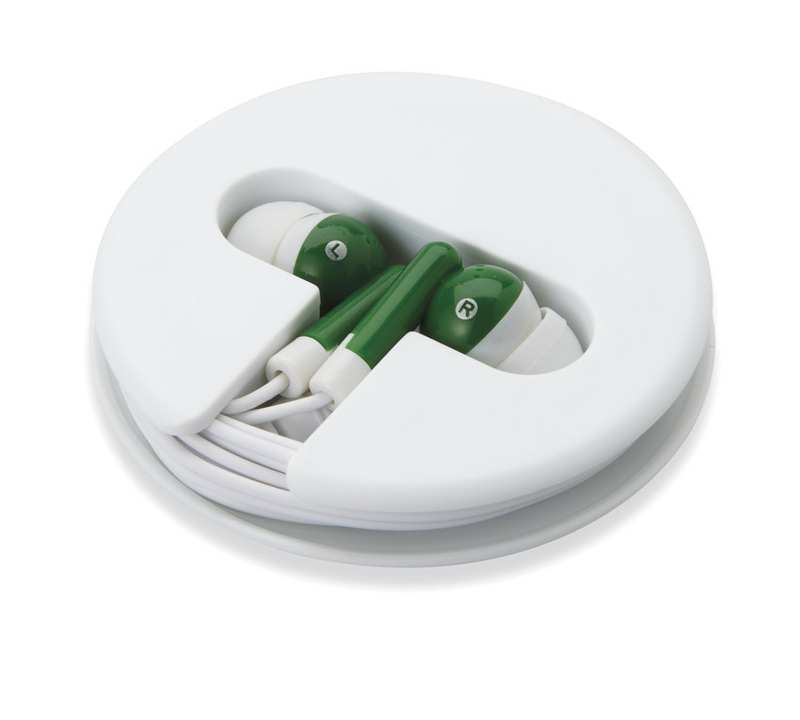 Zelená sluchátka silikonové pouzdro