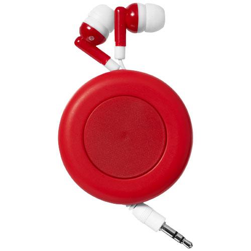Červená sluchátka Twister