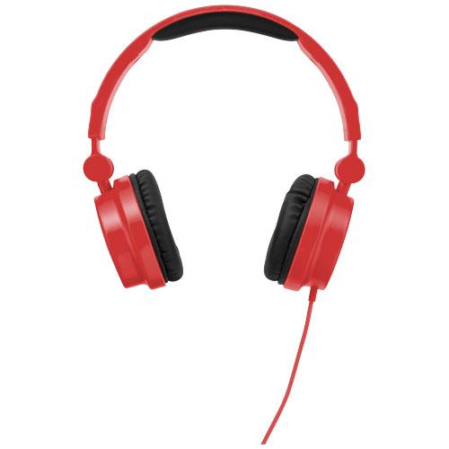 Červená skládací sluchátka Bounz