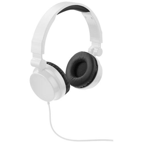 Bílá skládací sluchátka Bounz
