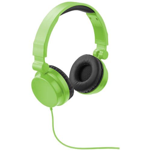 Zelená skládací sluchátka Bounz