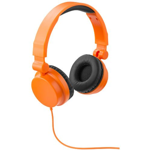 Oranžová skládací sluchátka Bounz
