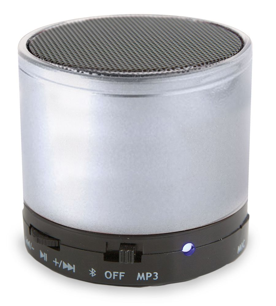 Bluetooth reproduktor stříbrný