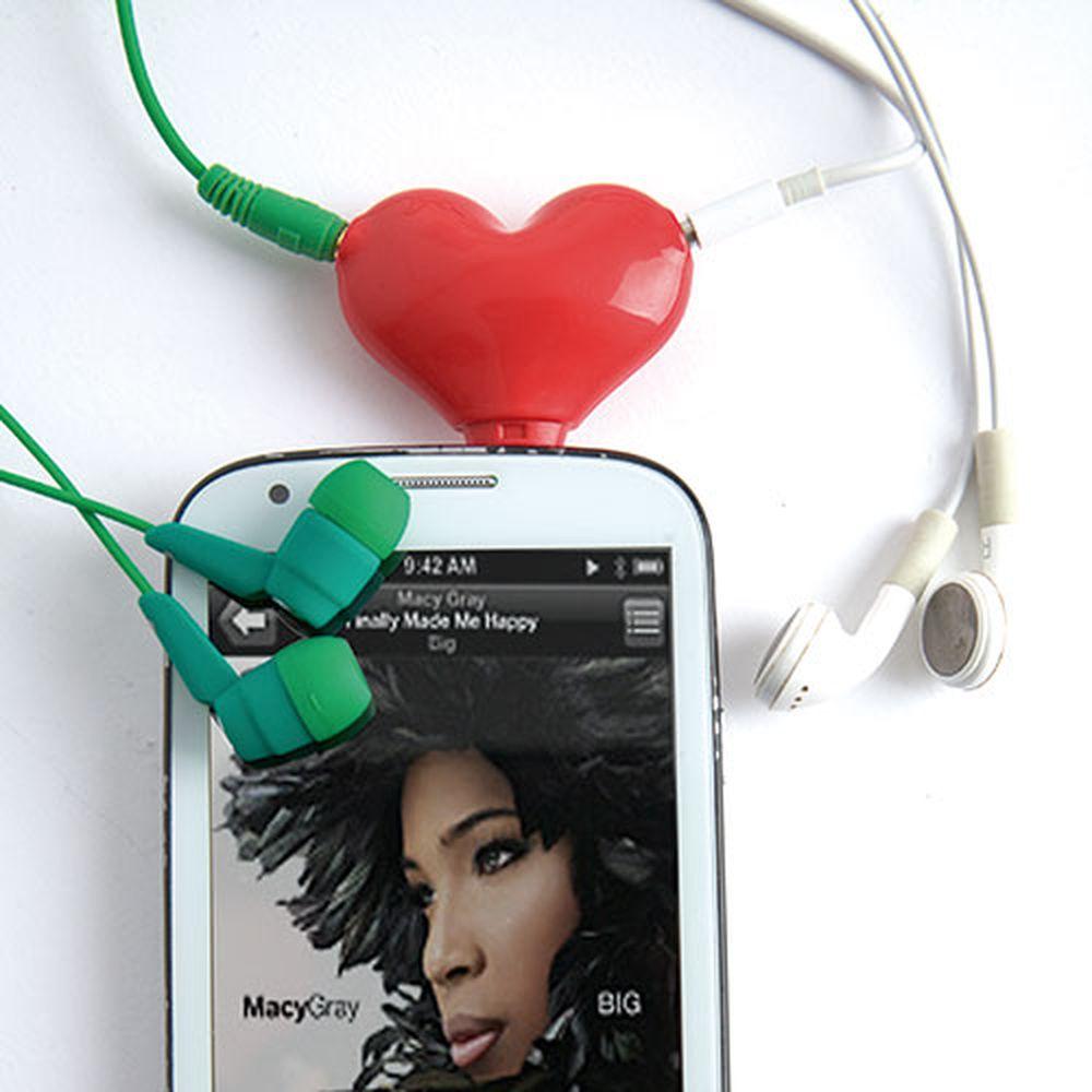 Rozvojení na sluchátka červené