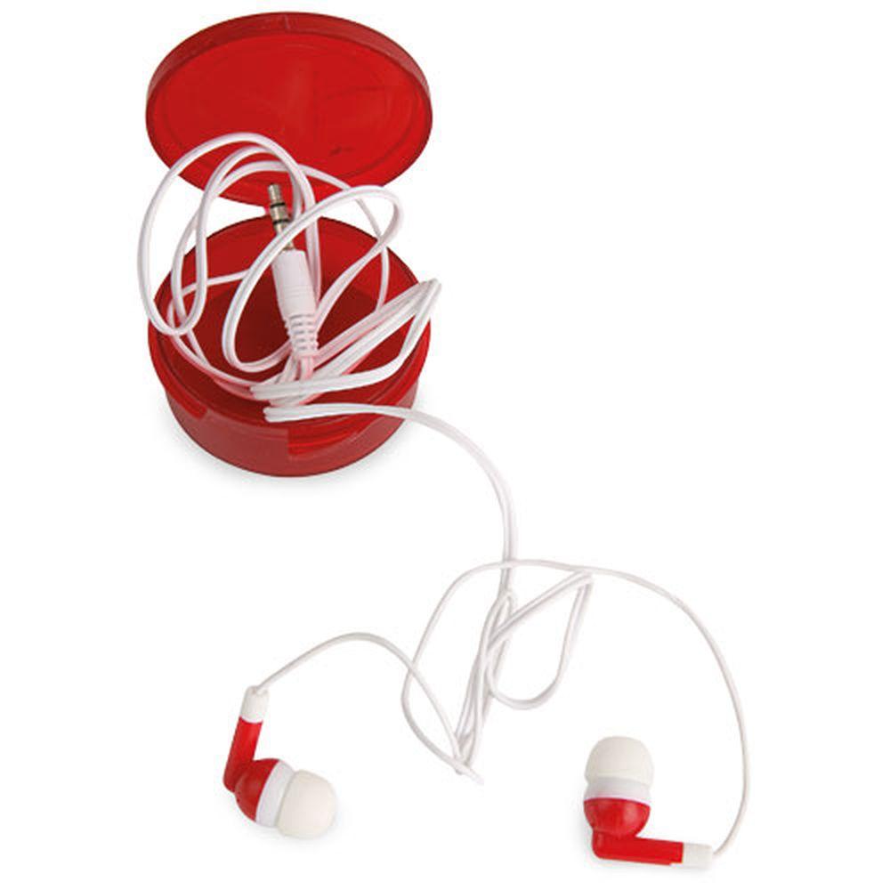 Sluchátka bílá v červené krabičce