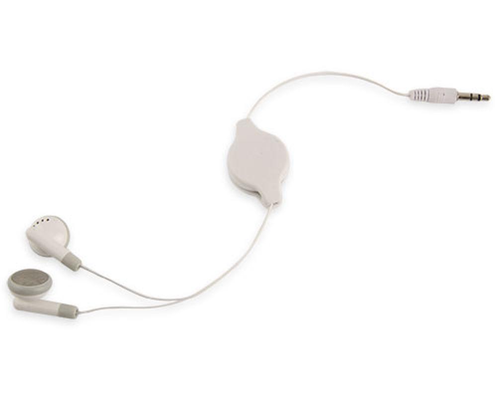 Navíjecí sluchátka bílá
