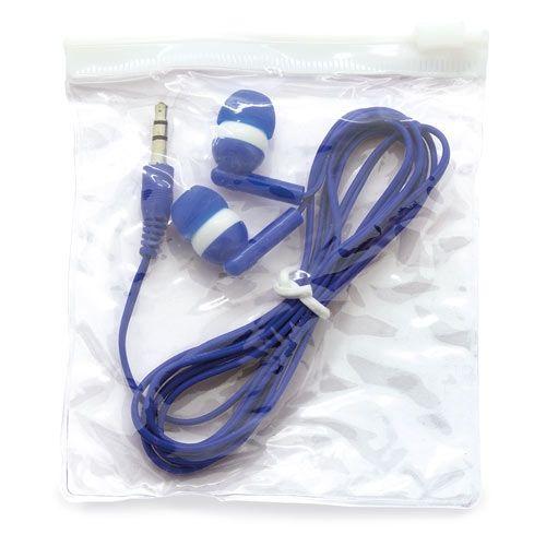 Špuntová sluchátka modrá