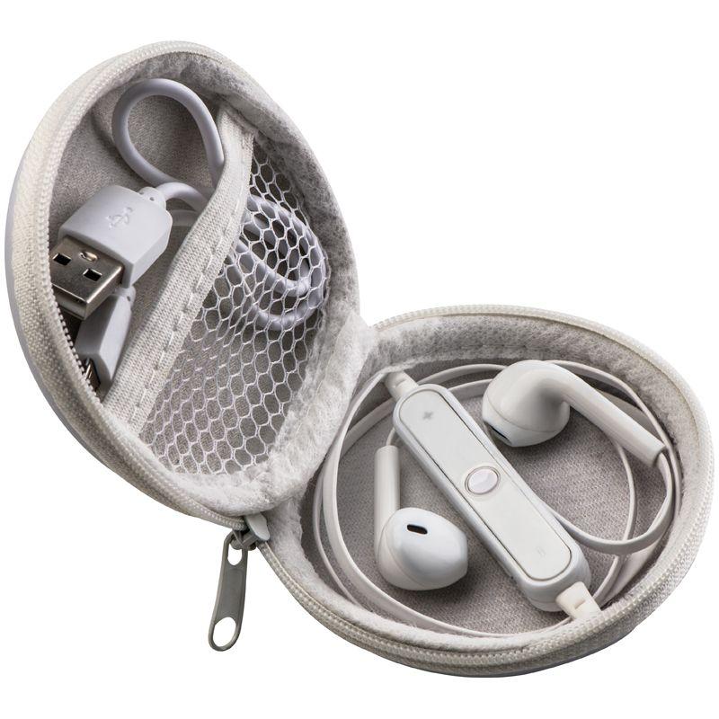 Bezdrátová pecková sluchátka bílá