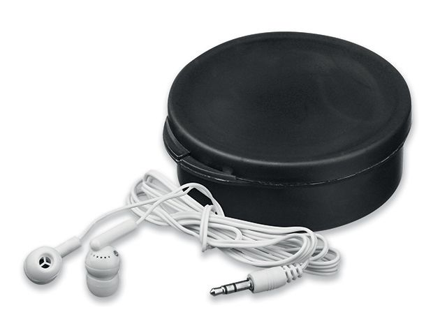 BUD plastová sluchátka s JACK kabelem v plastové krabičce