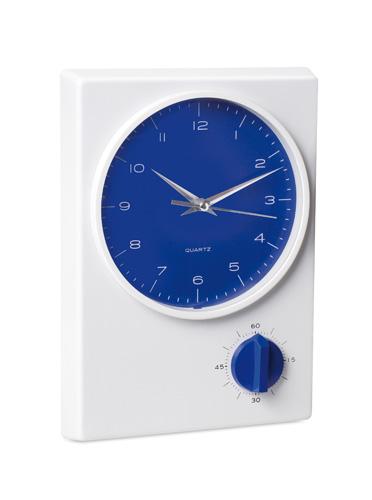 Tekel modré stolní hodiny